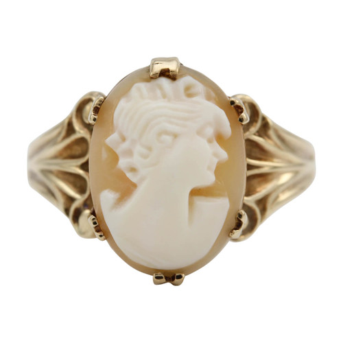 Second Hand 9ct Gold Cameo Ring