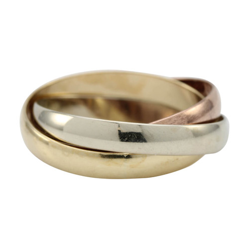 Second Hand 9ct Gold 3 Colour Russian Wedding Ring