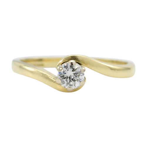 Second Hand 18ct Gold Solitaire Diamond Engagement Ring