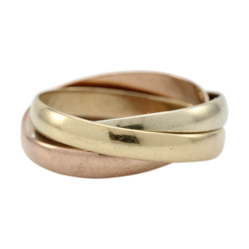 Second Hand Russian Wedding Ring 9ct Gold