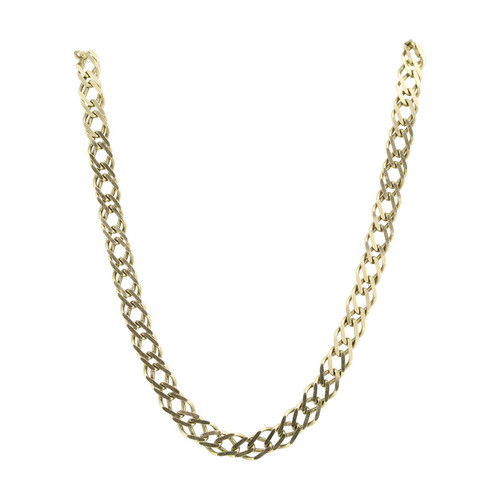 """Second Hand 9ct Gold 20"""" Double Link Curb Chain Necklace"""