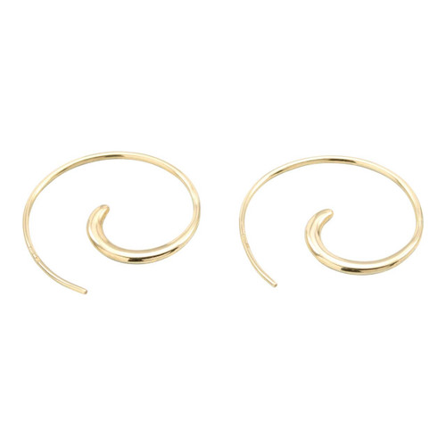 Second Hand 9ct Gold Curl Earrings