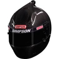 "Simpson Carbon Air Inforcer Shark Helmet Snell Sa2015 Medium / Large 59Cm 7 3/8"""