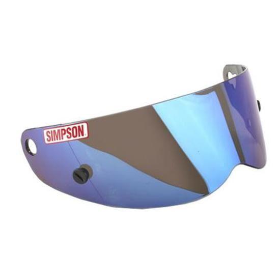 c903ee26 SIMPSON HELMET BLUE IRIDIUM VISOR FOR SA2005 DIAMONDBACK SUPER ...