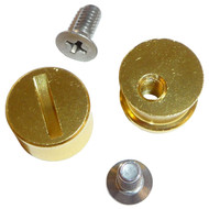 SIMPSON HELMET GOLD ANODISED ALUMINIUM TEAROFF POST SET KIT FITS ALL MODELS UK