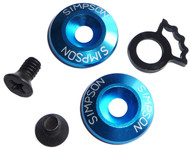 SIMPSON HELMET DETENT SPACER SET KIT FOR SPEEDWAY,DIAMONDBACK, ALL BANDITS BLUE