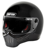 Simpson M30 Bandit Helmet Dot Approved Gloss Black S-Xl