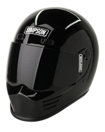 Simpson Street Bandit Helmet Snell M2015 Gloss Black Xs-Xxl