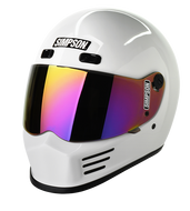 Simpson Street Bandit Helmet Snell M2015 Gloss White Xs-Xxl
