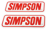 SIMPSON GENUINE STICKERS x2 DECAL SET 240mm x 75mm BANDIT DIAMONDBACK SPEEDWAY