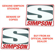 SIMPSON GENUINE STICKERS x2 DECAL SET 76mm x 64mm BANDIT DIAMONDBACK SPEEDWAY
