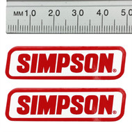 SIMPSON GENUINE STICKERS x2 DECAL SET 50mm x 15mm BANDIT DIAMONDBACK SPEEDWAY