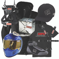 Nascar Helmet Kit (3 Cond.) Coiled Cord With Ear Cups