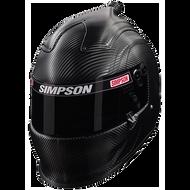 SIMPSON CARBON AIR INFORCER VUDO HELMET SNELL SA2015 MSA HANS M6 XS-XXL