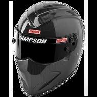 Simpson Carbon Diamondback Helmet Snell Sa2015 8858 Xs-Xxl Msa M6 Hans