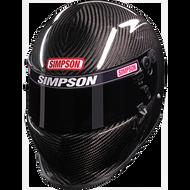 Simpson Carbon Ev1 Helmet Snell Sa2015 Msa Hans M6 Xs-Xxl