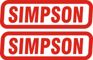 SIMPSON GENUINE STICKERS x2 DECAL SET 130mm x 40mm BANDIT DIAMONDBACK SPEEDWAY