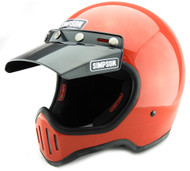 SIMPSON M50 MOTORCYCLE HELMET DOT APPROVED GLOSS RED