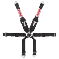 "Simpson CamLock, T-Bar, 2/3"" Shoulders, 2"" Lap, Clip-In Harness"