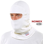 Simpson Balaclava, Single Eyeport White FIA
