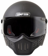 Simpson M30 Bandit Satin Carbon Fibre Helmet Dot Approved S-Xl