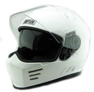 Simpson Ghost Bandit Venom  Helmet Uk Ece Road Legal Gloss White Xs-Xxl