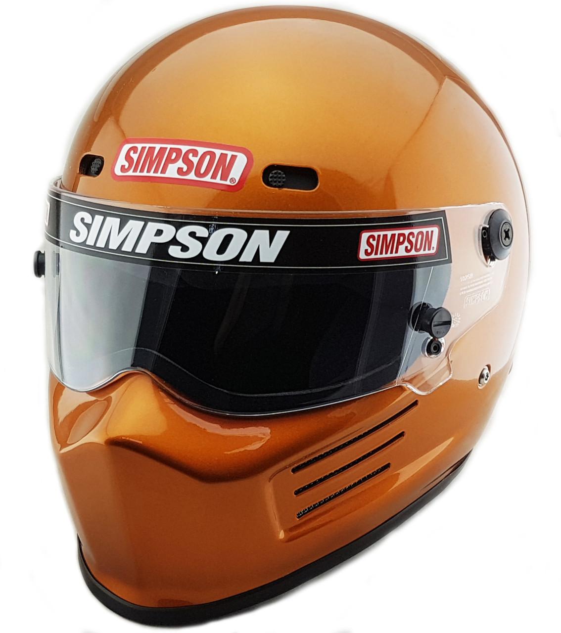 d93578f8 SIMPSON SUPER BANDIT HELMET SNELL SA2015 COPPER - Firestorm Racing UK