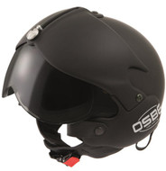 OPEN FACE SCOOTER HELMET OSBE GPA AIRCRAFT TORNADO MATT BLACK