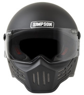 Simpson M30 Bandit Helmet Dot Approved Matt Black S-Xl