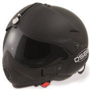 OPEN FACE SCOOTER HELMET OSBE GPA AIRCRAFT TORNADO MATT BLACK + MASK