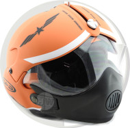 Open Face Scooter Helmet Osbe Gpa Aircraft Tornado Orange Army + Mask