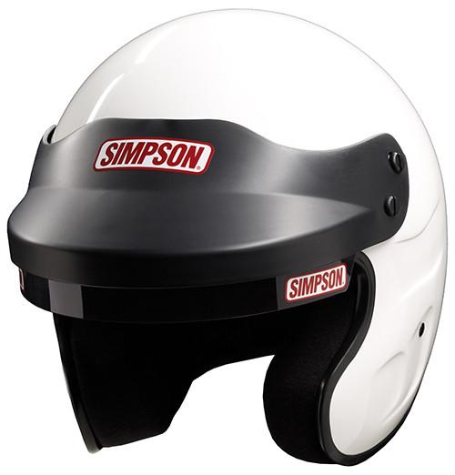 Simpson Racing Helmets >> Simpson Cruiser Helmet Snell Sa2015 White 8858 M6 Open Face