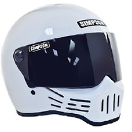 Simpson M30 Bandit Helmet Dot Approved Gloss White S-Xl
