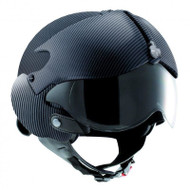 OPEN FACE SCOOTER MOTORCYCLE HELMET OSBE GPA AIRCRAFT TORNADO CARBON