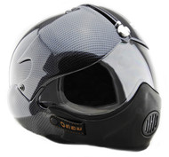 OPEN FACE SCOOTER MOTORCYCLE HELMET OSBE GPA AIRCRAFT TORNADO CARBON + MASK
