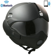 Open Face Scooter Helmet Osbe Gpa Aircraft Tornado Matt Black + Mask + Bluetooth Phone