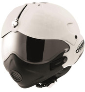 Open Face Scooter Motorcycle Helmet Osbe Gpa Aircraft Tornado White Metallic + Mask