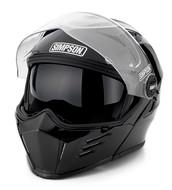 Simpson Darksome Flip Up Mod Helmet Gloss Black