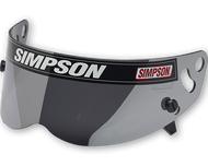 Simpson Helmet Silver Mirror Visor For Sa2010 Diamondback Speedway Rx Raider