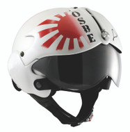 OPEN FACE SCOOTER MOTORCYCLE HELMET OSBE GPA AIRCRAFT TORNADO WHITE JAPAN