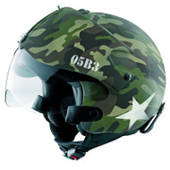 OPEN FACE SCOOTER HELMET OSBE GPA AIRCRAFT TORNADO MULTICAM ARMY