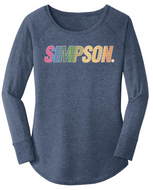 Simpson Ladies Vintage Tunic Long Sleeved Tee T Shirt