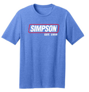 Simpson Usa Flag Blue Tee T Shirt