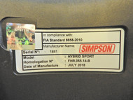Hans Hybrid Recertification Renew SFI Stamp Simpson Harness Adult Fia M6 Car Karting Racing