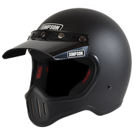 Simpson M50 Motorcycle Helmet Dot Approved Matt Black