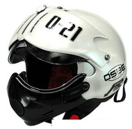 Open Face Scooter Motorcycle Helmet Osbe Gpa Aircraft Tornado White Army Graphic+ Mask