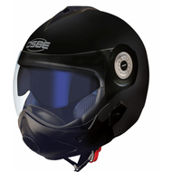 Osbe Gpa Aircraft Karma Helmet Open Face Motorcycle Matt Black + Covid Virus Mask