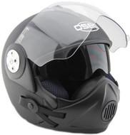 Osbe Gpa Aircraft Karma Helmet Open Face Motorcycle Matt Black + Covid Virus Mask