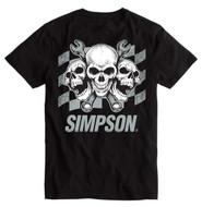 Simpson Tri Skull Tee T Shirt