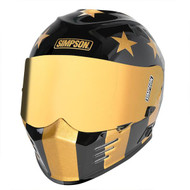 Simpson Ghost Venom Bandit Helmet Ece Dot Road Legal Gold Ponyboy